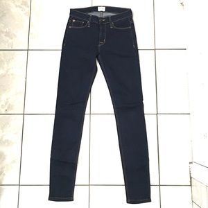 Hudson Womans Navy Nico Midrise Super Skinny Jeans